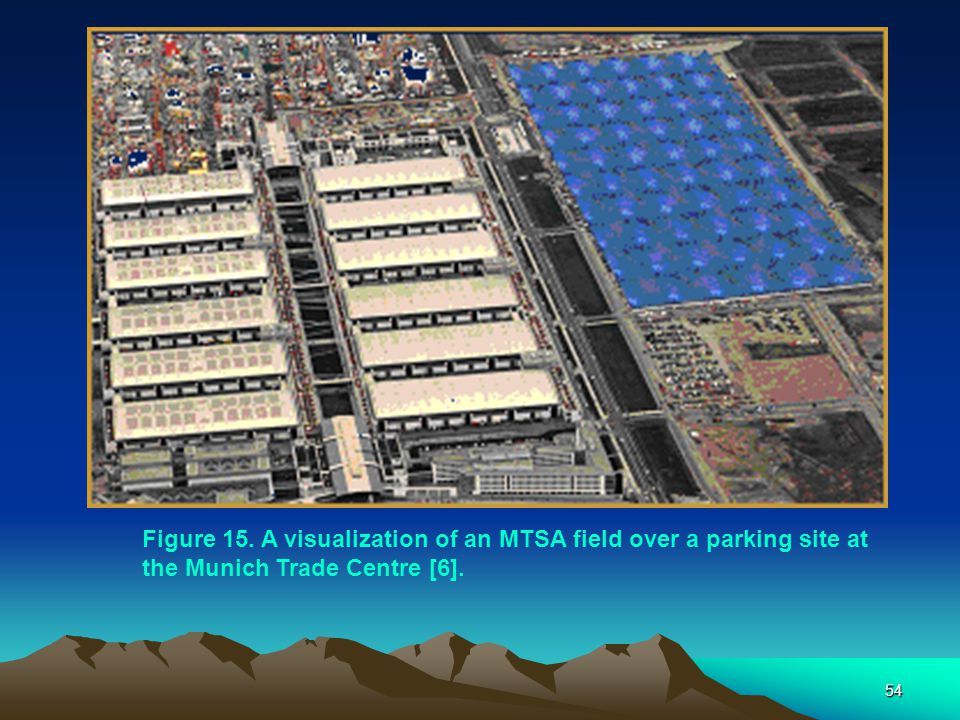 Figure 15. A visualization of an MTSA field over a parking site at the Munich Trade Centre [6].